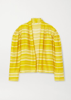 Dries Van Noten Striped Satin Blouse