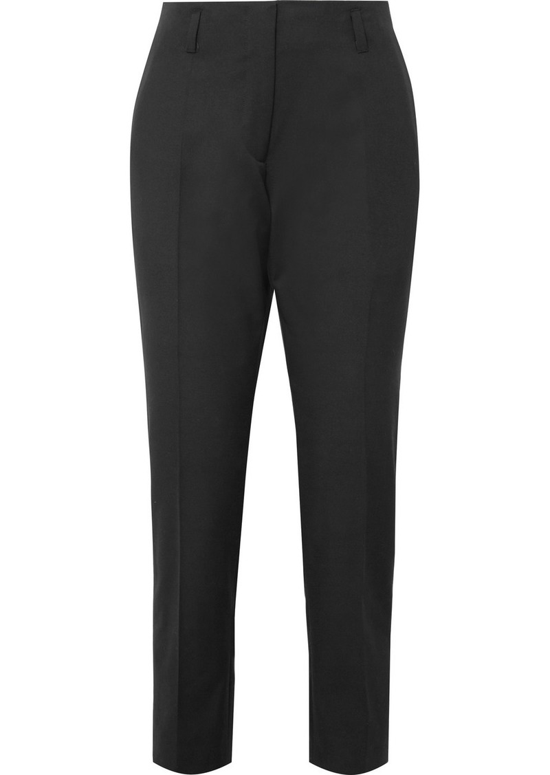 Dries Van Noten Cotton And Wool-blend Twill Slim-leg Pants