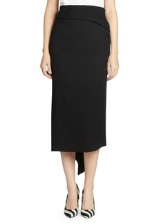 Dries Van Noten Crepe Sash Pencil Skirt