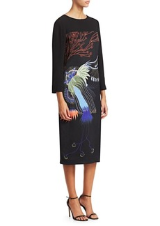 Dries Van Noten Dagal Abstract Floral Dress