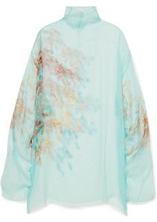 Dries Van Noten Darci Oversized Floral-print Silk-tulle Tunic