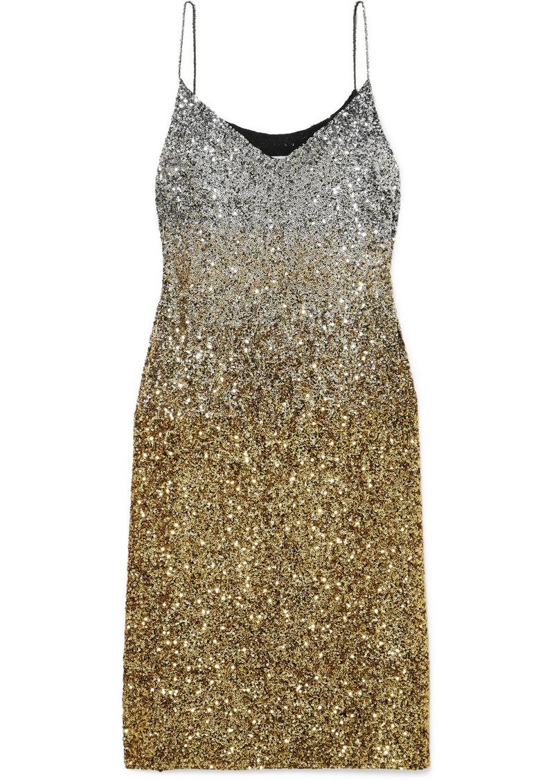 Dries Van Noten Daria Dégradé Sequined Silk-crepe Midi Dress