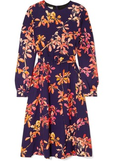 Dries Van Noten Dicina Belted Floral-print Crepe Midi Dress