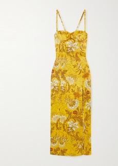 Dries Van Noten Floral Silk-jacquard Midi Dress
