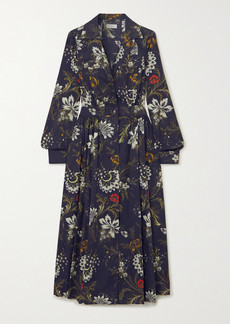 Dries Van Noten Dolio Floral-print Cotton-jacquard Shirt Dress