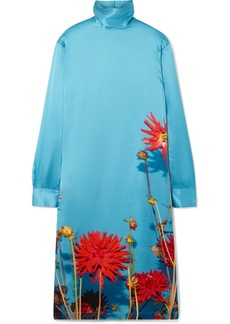 Dries Van Noten Dontisy Floral-print Satin Dress