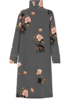 Dries Van Noten Dontisy Floral-print Silk-habotai Midi Dress