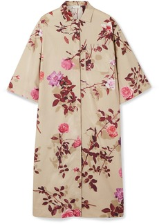 Dries Van Noten Dorali Floral-print Cotton-poplin Shirt Dress