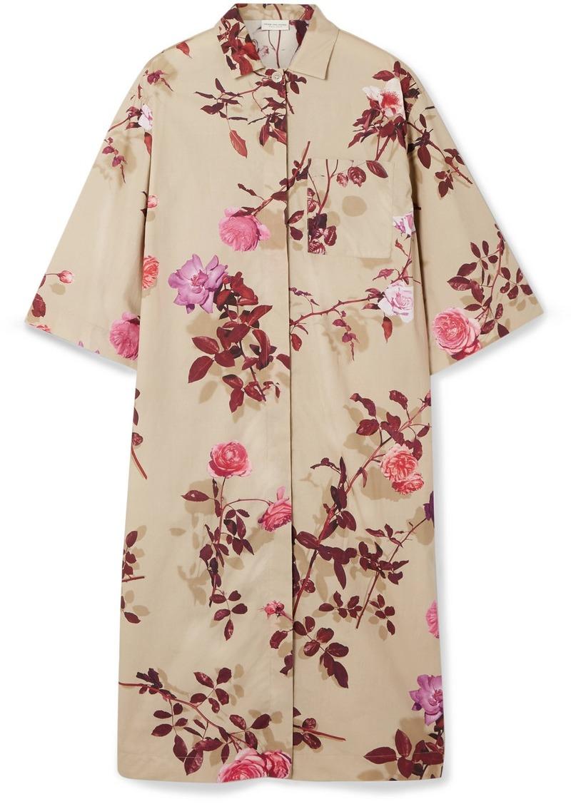 Dries Van Noten Dorali Floral-print Cotton-poplin Shirt Dress