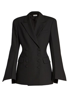 Dries Van Noten Double Breasted Slit-Cuff Jacket