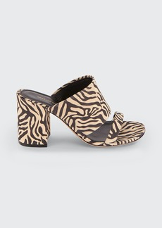 Dries Van Noten 80mm Animal-Print Cuff Slide Sandals