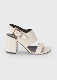 Dries Van Noten 80mm Leather Block-Heel Sandals