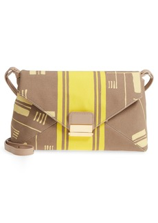 Dries Van Noten Abstract Print Canvas Envelope Clutch
