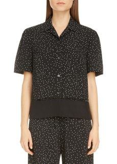 Dries Van Noten Cabo Dot Lace Inset Shirt