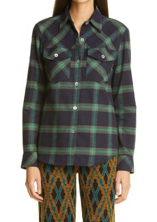 Dries Van Noten Caffey Plaid Flannel Shirt