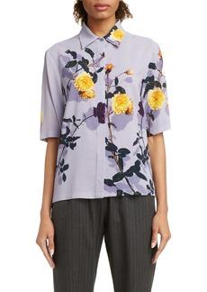 Dries Van Noten Cakool Shadow Rose Shirt