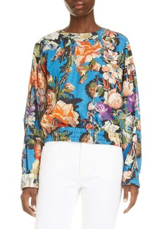 Dries Van Noten Calvin Floral Cotton Blend Top
