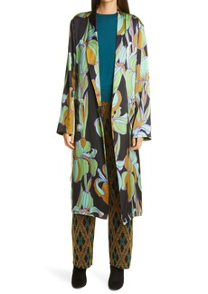 Dries Van Noten Charlie Floral Wrap Silk Topper