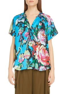 Dries Van Noten Chen Floral Top