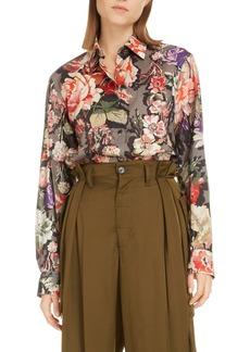 Dries Van Noten Clavelly Floral Cotton Shirt