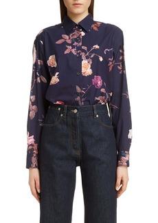 Dries Van Noten Clavelly Rose Print Shirt