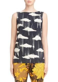 Dries Van Noten Cloud & Floral Print Blouse