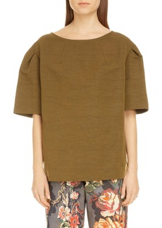 Dries Van Noten Creoly Linen & Cotton Top