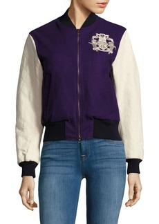 Dries Van Noten Crest Embroidered Bomber Jacket