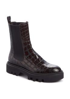 Dries Van Noten Croc Embossed Chelsea Boot (Women)