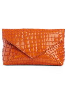 Dries Van Noten Croc Embossed Leather Clutch