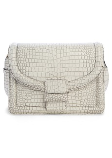 Dries Van Noten Croc Embossed Leather Crossbody Bag