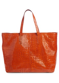 Dries Van Noten Croc Embossed Leather Tote