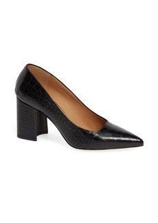 Dries Van Noten Croc Embossed Pointy Toe Pump (Women)