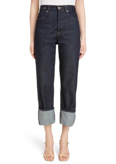 Dries Van Noten Cuffed Boyfriend Jeans