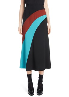 Dries Van Noten Curved Inset Midi Skirt