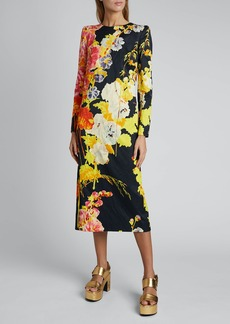 Dries Van Noten Daia Floral-Print Dress