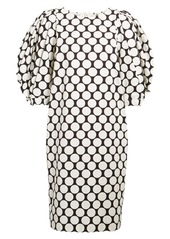 Dries Van Noten Dali Dot Balloon Sleeve Cotton Shift Dress