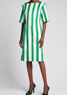 Dries Van Noten Daroha Striped Sheath Dress