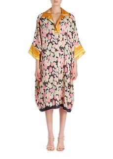 Dries Van Noten Daze Floral Foulard Cocoon Shirtdress