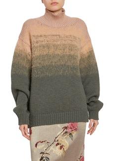 Dries Van Noten Degrade Turtleneck Sweater