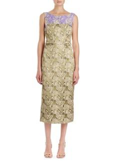 Dries Van Noten Delicia Brocade Sheath Dress