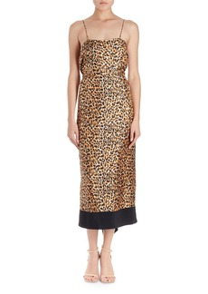 Dries Van Noten Dica Leopard-Print Midi Cami Dress
