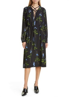 Dries Van Noten Dion Floral Long Sleeve Dress