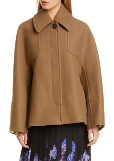 Dries Van Noten Dolman Sleeve Wool Blend Melton Jacket