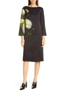 Dries Van Noten Domar Dahlia Print Dress