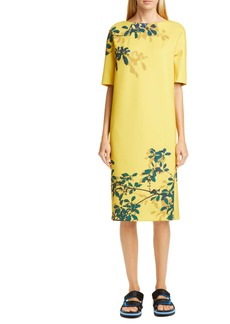 Dries Van Noten Dorine Leaf Print Scuba Dress
