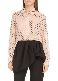 Dries Van Noten Dot Silk Shirt