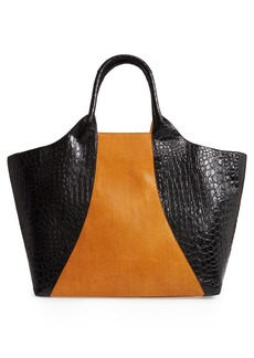 Dries Van Noten Embossed Leather Tote