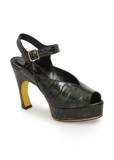 Dries Van Noten Embossed Platform Sandal (Women)