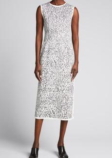 Dries Van Noten Essay Script-Print Sleeveless Dress